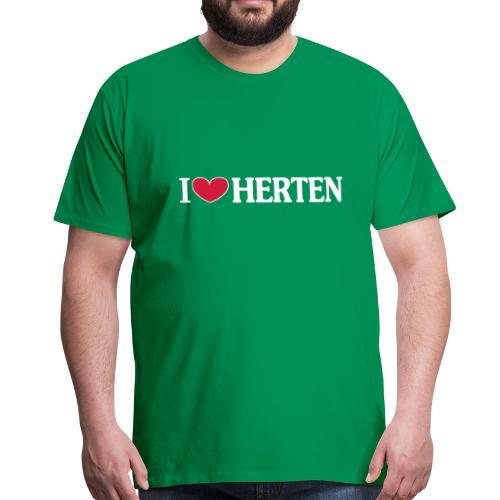 I ♥ Herten - Männer T-Shirt klassisch - Männer Premium T-Shirt