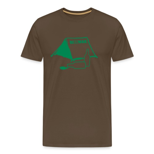 BI(er)WAK: Biwak, das Camping-Shirt für echte Männer - Männer Premium T-Shirt