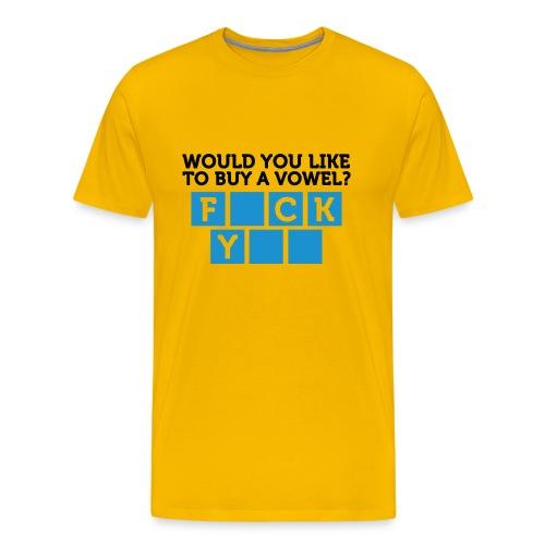 BUY A VOWEL - Premium-T-shirt herr