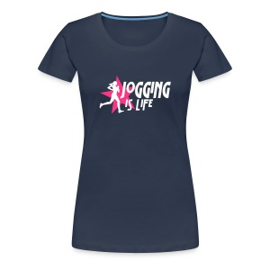 jogging is life female with star i 2c T-Shirts - Women's Premium T-Shirt
