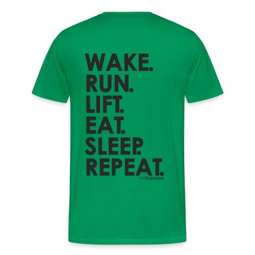 wake. run. lift. eat. sleep. repeat. - black - Men's Premium T-Shirt