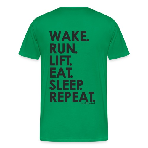 wake. run. lift. eat. sleep. repeat. - black - Men's Premium T-Shirt