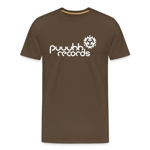 Männer T-Shirt klassisch puuuhh records - weiße Schrift - Männer Premium T-Shirt