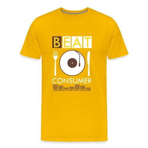 BEAT CONSUMER (yellow/brown) - Männer Premium T-Shirt