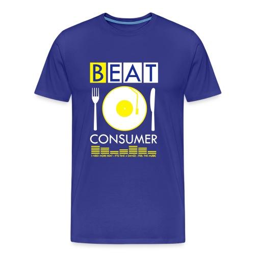 BEAT CONSUMER (blue/yellow) - Männer Premium T-Shirt