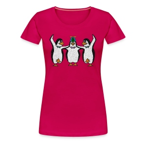 Penguin Trio Womans Plus - Women's Premium T-Shirt