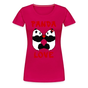 Panda Love Womens Plus - Women's Premium T-Shirt