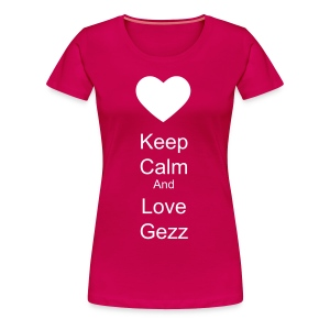 Women's t-shirt keep calm and love gezz - Women's Premium T-Shirt