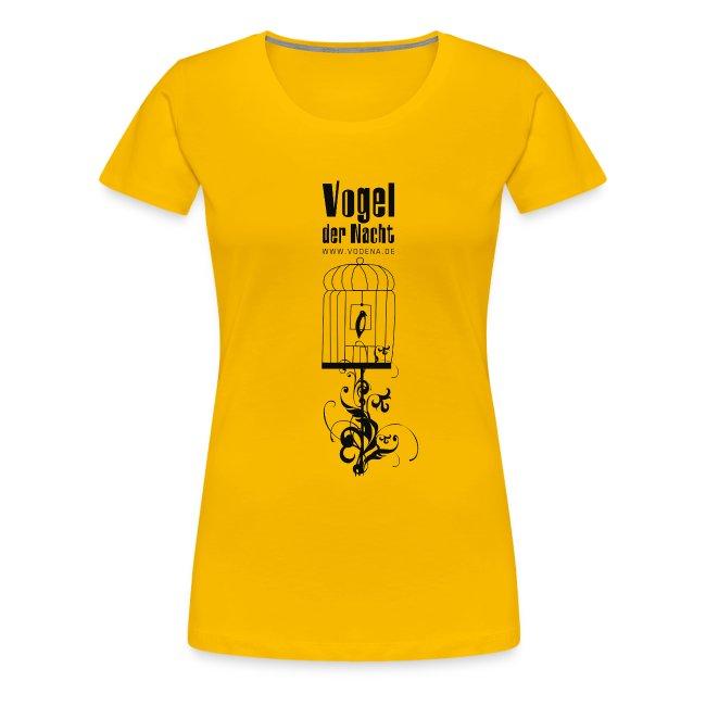 4668236aebbee6 showmaker | Vogel der Nacht Damen Shirt Käfig - Frauen Premium T-Shirt