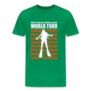 Diving World Tour Imp.Flex+Logo Dos - T-shirt Premium Homme