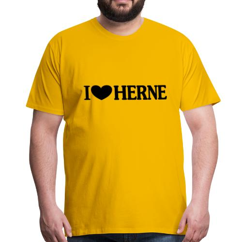 I ♥ love Herne - Männer T-Shirt klassisch - Männer Premium T-Shirt