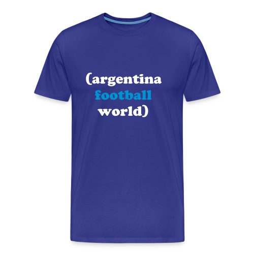 Argentina Football World - Men's Premium T-Shirt