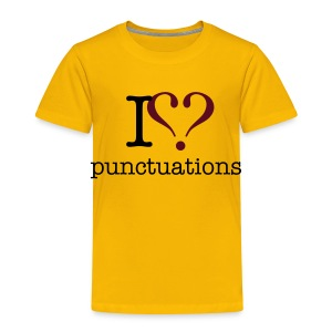 I love punktuations kid's t-shirt - Kids' Premium T-Shirt