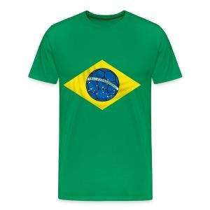 brazil football design - Men's Premium T-Shirt