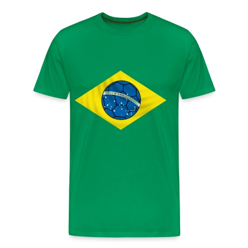 brazil football design - Men's Premium T-Shirt