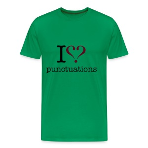I love punktuations men's t-shirt - Men's Premium T-Shirt