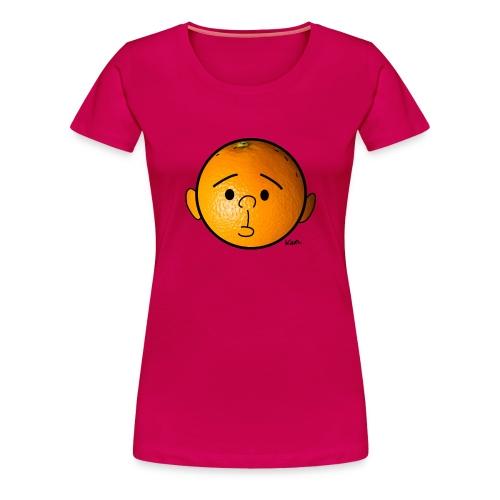 Orange head  - Women's Premium T-Shirt