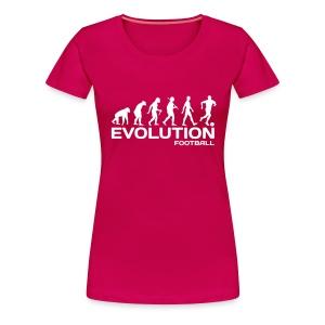 evolution monkey to footballer t-shirt - Women's Premium T-Shirt