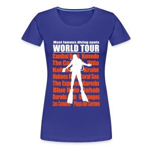 Diving Worl Tour - Imp.Flex 2 Couleurs+Logo Dos - T-shirt Premium Femme