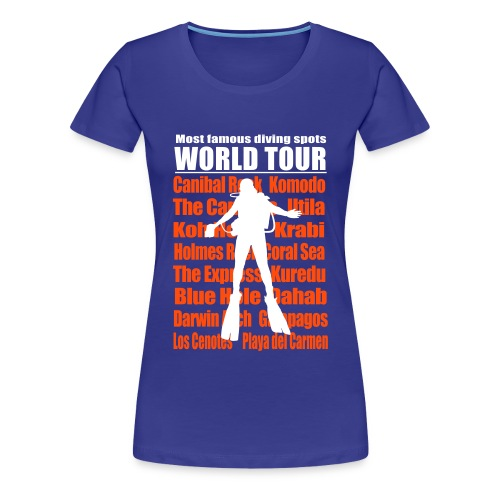Diving Worl Tour - Imp.Flex 2 Couleurs+Logo Dos - T-shirt Premium Femme