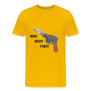 Han Shot First - Men's Premium T-Shirt