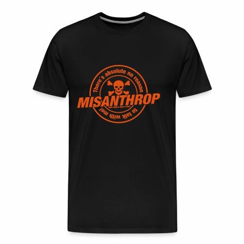 Schwarzes Misanthrop-Shirt für Dicke! - Männer Premium T-Shirt