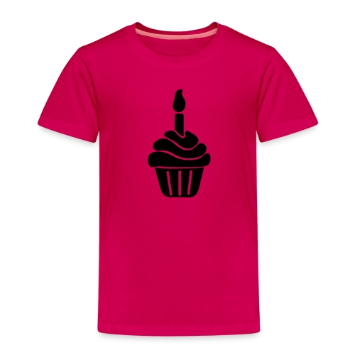birthday cake with candle - Kids' Premium T-Shirt