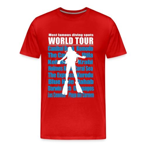 Maxi World Tour 3A 5XL -Imp Flex+Logo dos - T-shirt Premium Homme