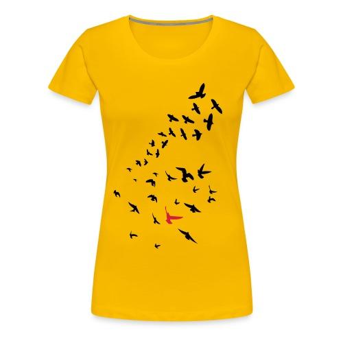 Flock of Birds - Women's Premium T-Shirt