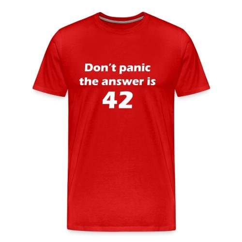 42 t-shirt #1 - Mannen Premium T-shirt