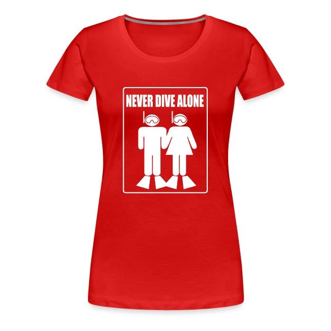 """""""Never Dive Alone"""" - Imp.Flex+Logo Dos"""