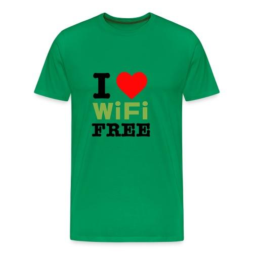 I Love Free Wifi - Men's Premium T-Shirt