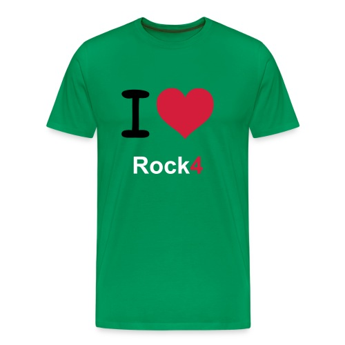 I Love Rock4  - Mannen Premium T-shirt