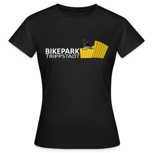 Logo Classic Querformat  weiß/gelb - Frauen T-Shirt