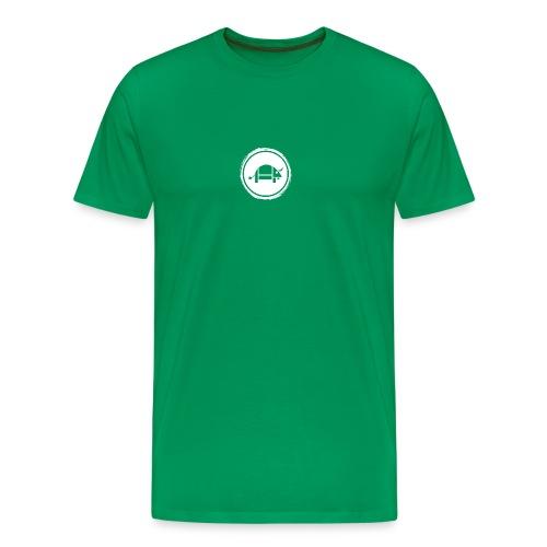 Banoop Circular Logo - Mens T-Shirt - Khaki - Men's Premium T-Shirt
