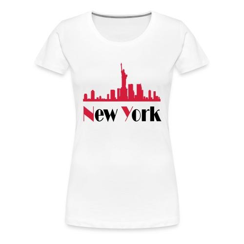 Tee Shirt Femme New York City  - T-shirt Premium Femme