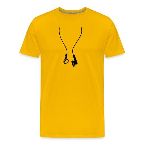 Shirt met oordoppen - Mannen Premium T-shirt