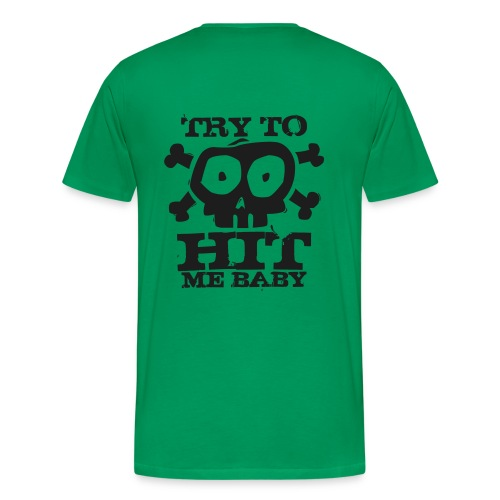 Herren Airsoft T-Shirt Try to Hit schwarz glitzer   Airsoftshirt - Männer Premium T-Shirt