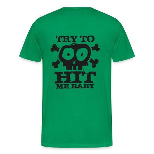 Herren Airsoft T-Shirt Try to Hit schwarz glitzer | Airsoftshirt - Männer Premium T-Shirt
