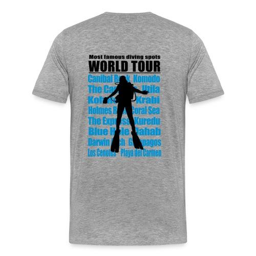 World Tour- Dos - Imp Flex 2 couleurs - T-shirt Premium Homme