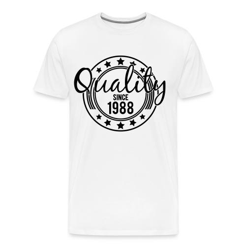 S LOGO TEE (Black)  - Men's Premium T-Shirt