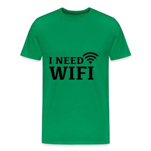 I Need wifi - Mannen Premium T-shirt