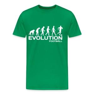 evolution monkey to footballer - Men's Premium T-Shirt