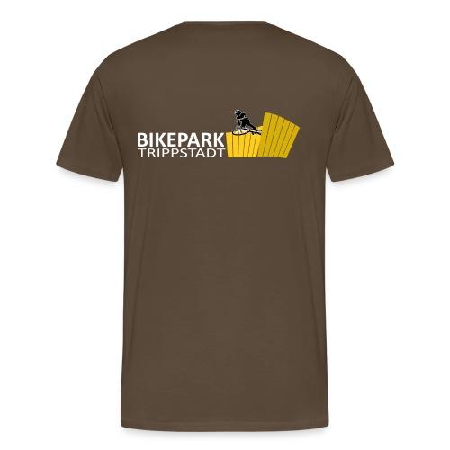 Logo Classic Querformat  weiß/gelb - Männer Premium T-Shirt