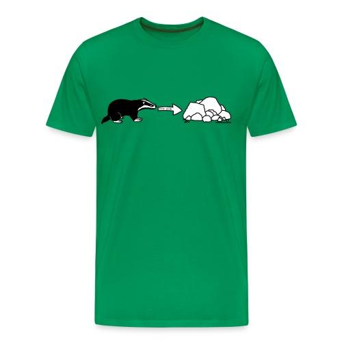 Men's Rock Badger T-Shirt - Men's Premium T-Shirt