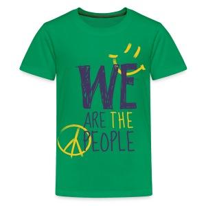 Peace Smiley dark - Teens - Teenager Premium T-Shirt