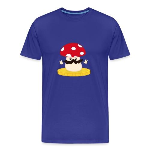 Champignon winner bleu - T-shirt Premium Homme