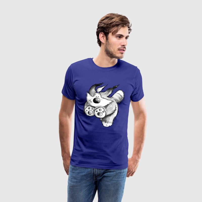 Flying Bearded Collie- Chien- Tee Shirt - T-shirt Premium Homme