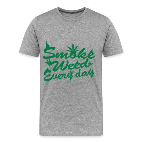 Smoke weed everyday - Herre premium T-shirt