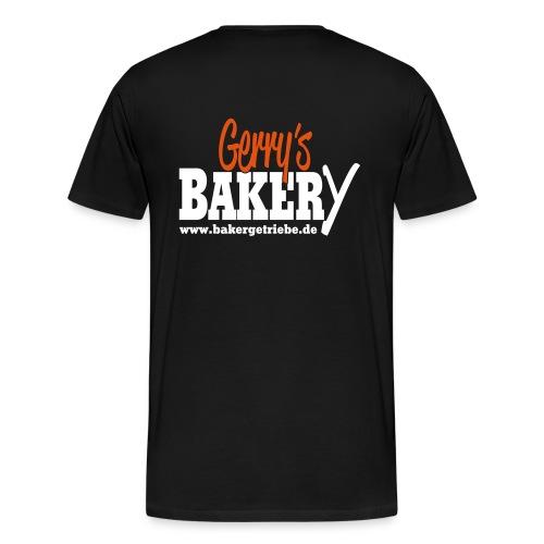 BAKERy Logo Brust & Rücken - Übergrösse - Männer Premium T-Shirt